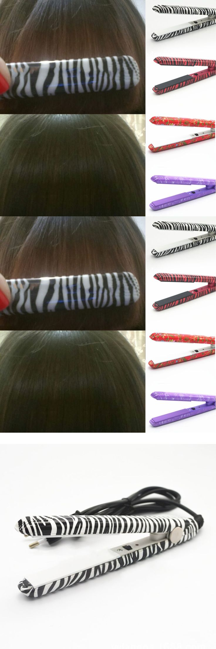 4 Colors Styling Tools New Professional Hairstyling Mini Portable Ceramic Flat Zebra Hair Straightener Irons   @ME88