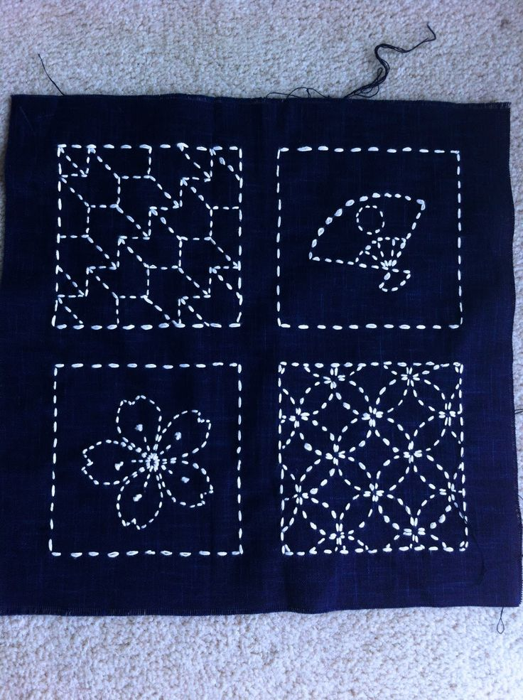 Small sashiko sampler A Quilter by Night