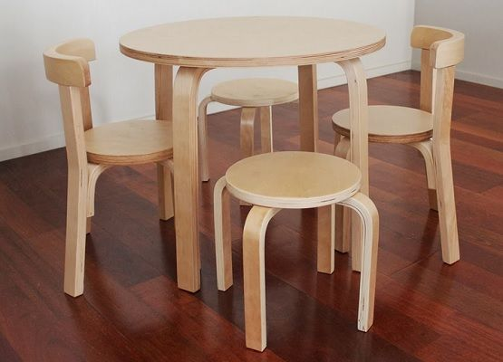 Round Children Wooden Table And Chairs Kids Furniture Ideas Pinterest Tables
