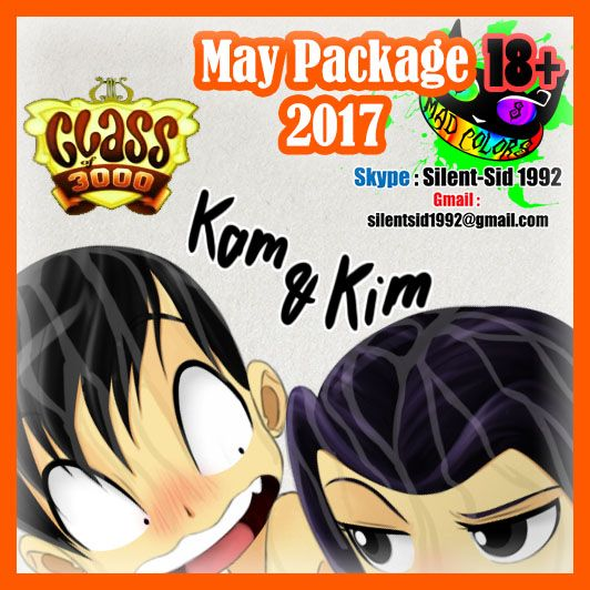 May Package 2017 - Class of 3000 - Kam and Kim  Blog Link : http://silent-sid-1992.blogspot.com/2017/05/may-package-2017-cardcaptor-sakura.html  Kam and Kim from Class of 3000 people can remember embarrassing things between their siblings ,  but those two have something a little more ... unacceptable ! LOL !  this is part of May Package 2017 , containing all of May artworks message me to buy and reserve the package and get it on June :  Gmail : silentsid1992@gmail.com Skype : Silent-Sid 1992…