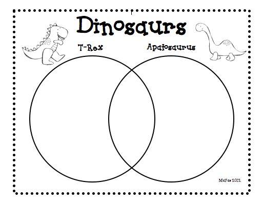 63 best venn diagrams images on pinterest venn diagrams preschool venn diagram template see more classroom freebies too dinosaur freebie ccuart Image collections