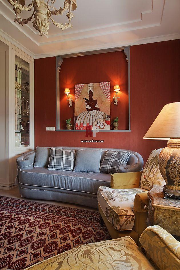Фото интерьера кабинета небольшой квартиры в неоклассике