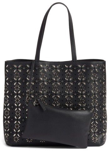 Cute and on sale! Chelsea28 Kaylee Embellished Faux Leather Tote - Black