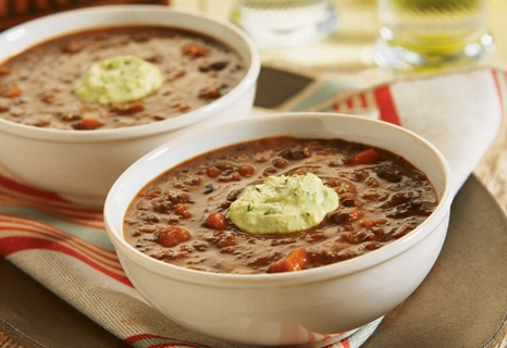 Black bean soup takes a more worldly approach with the addition of ...