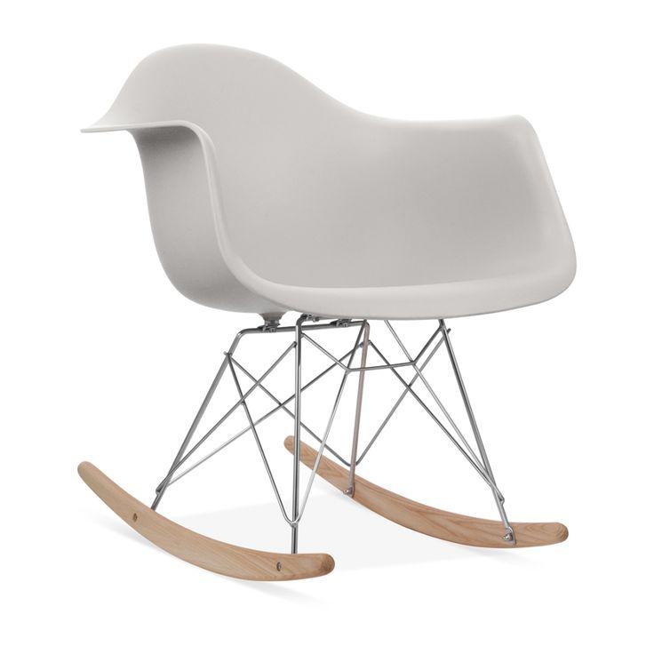 Charles Eames Style Light Grey RAR Rocker Chair