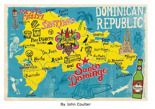 Mapa de la Rep Dominicana