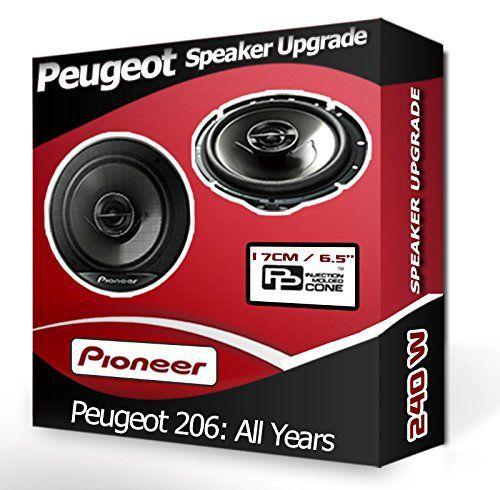 Peugeot Pioneer Haut-parleurs de voiture portière avant pour Peugeot 206 240W: Ce kit de haut-parleurs inclut une paire d'enceintes…