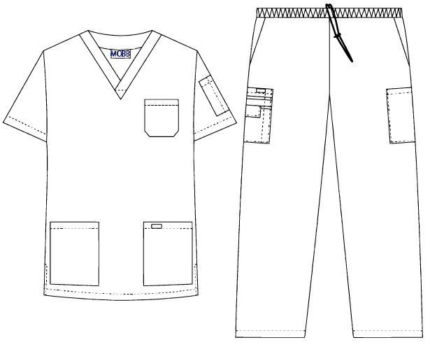 Unisex Elastic Scrub Set | Medical Wear | Dixie Uniforms Canada