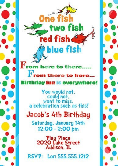 1000 images about family reunion invites on pinterest for One fish two fish printable