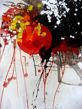 "Saatchi Art Artist Jenik Cook; Painting, ""The Intense Energy"" #art"