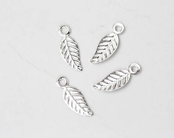 2599_ 925 Sterling silver charms 4.5x13 mm Delicate pendant