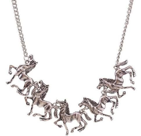 Antique Jewelry Horse Vintage Necklace