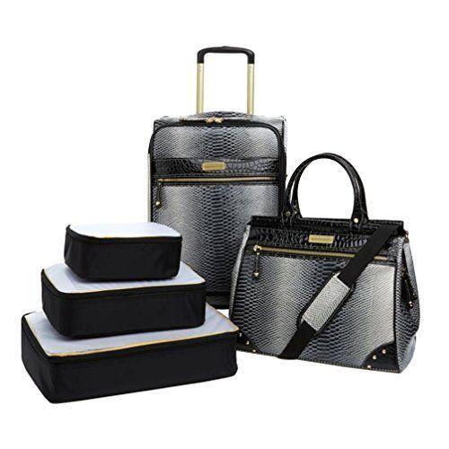 Samantha Brown Embossed Ombre 5-Piece Luggage Set - Black... https://www.amazon.com/dp/B00YSY35P6/ref=cm_sw_r_pi_dp_x_e5D.zbC2ERHNR