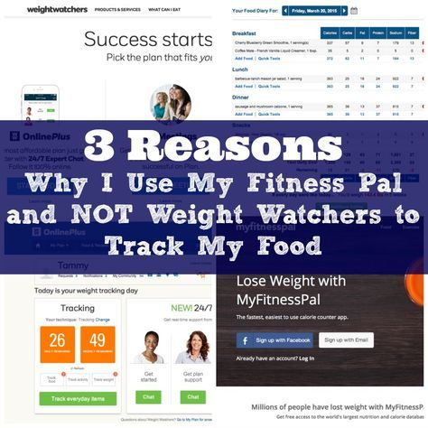 3 reasons I use My Fitness Pal and not weight watchers to track my food