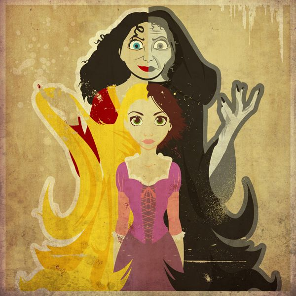 """Her Better Half"" by Danny Haas, from Disney's WonderGround Gallery's ""Good vs. Evil"" collection"
