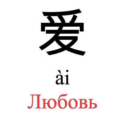 Самым востребованным и самым трепетным чувством на свете является любовь, китайский иероглиф, символизирующий это высокое чувство. Все чаще и чаще он становится украшением тела многих девушек. Иероглиф любовь 爱 [ài] можно разбить на четыре отдельных иероглифа: 爪, 爫 [zhuǎ] - когти, 冖[mì] - покрывало, 心[xīn] – сердце, 友[yǒu] – друг. Если соединить все значения иероглифов, то получается истинный смысл «любви» - похожее на дружбу чувство крепко вцепляется когтями в сердце и полностью подчиняет…