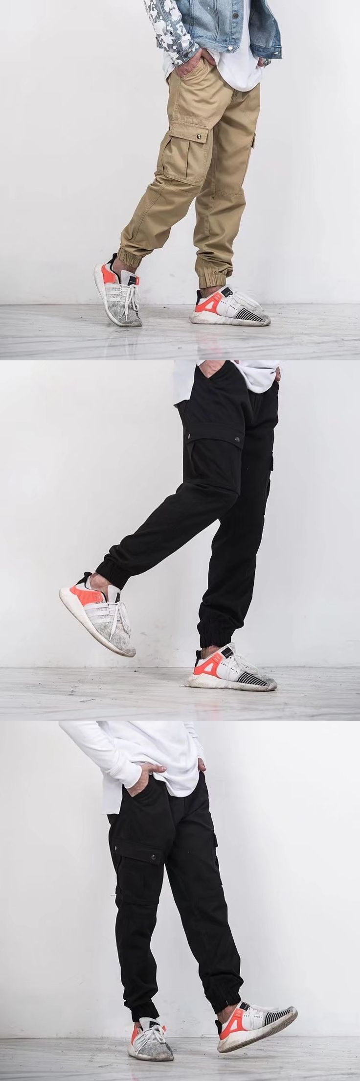 high quality 2017 New Ankle banded pants joggers Full Length Pants Men hip hop Casual sweatpants men overall wear hip hop