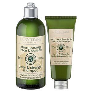 Profitez de ce duo pour fortifier et limiter la chute des cheveux fins et fragiles. Il associe l'efficacité unique de 5 huiles essentielles tonifiant