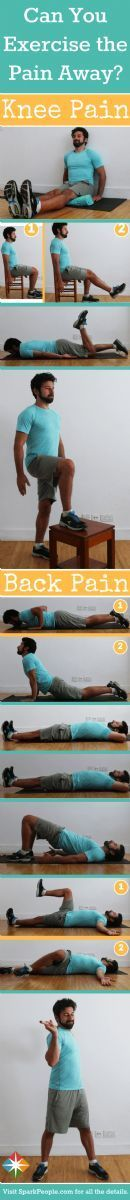 Can exercise take knee and back pain away? We think so! Check out our easy moves that you can do right at home and incorporate into your next workout.
