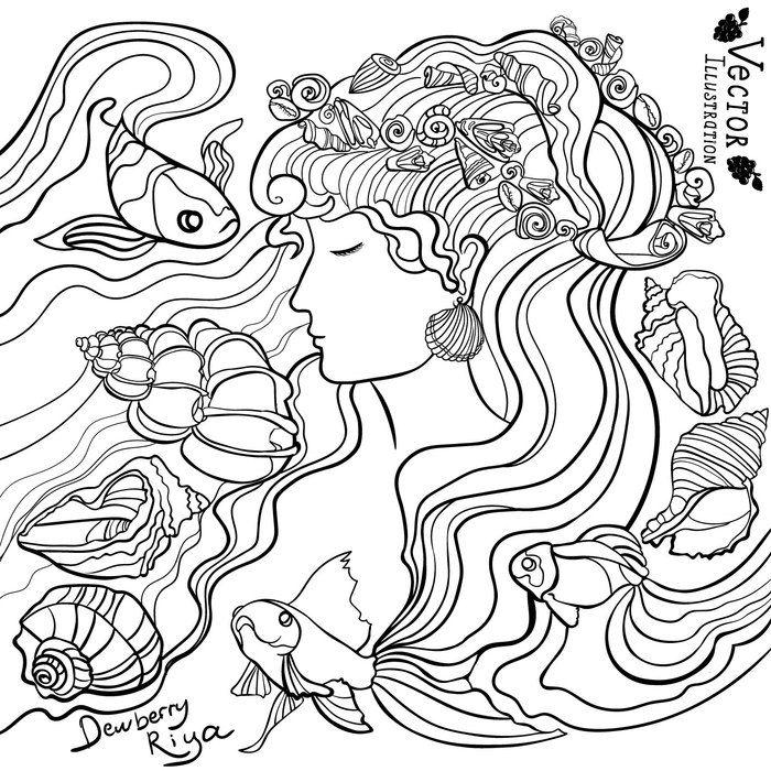 Посмотреть иллюстрацию Пикулик Рия - Морская дева.