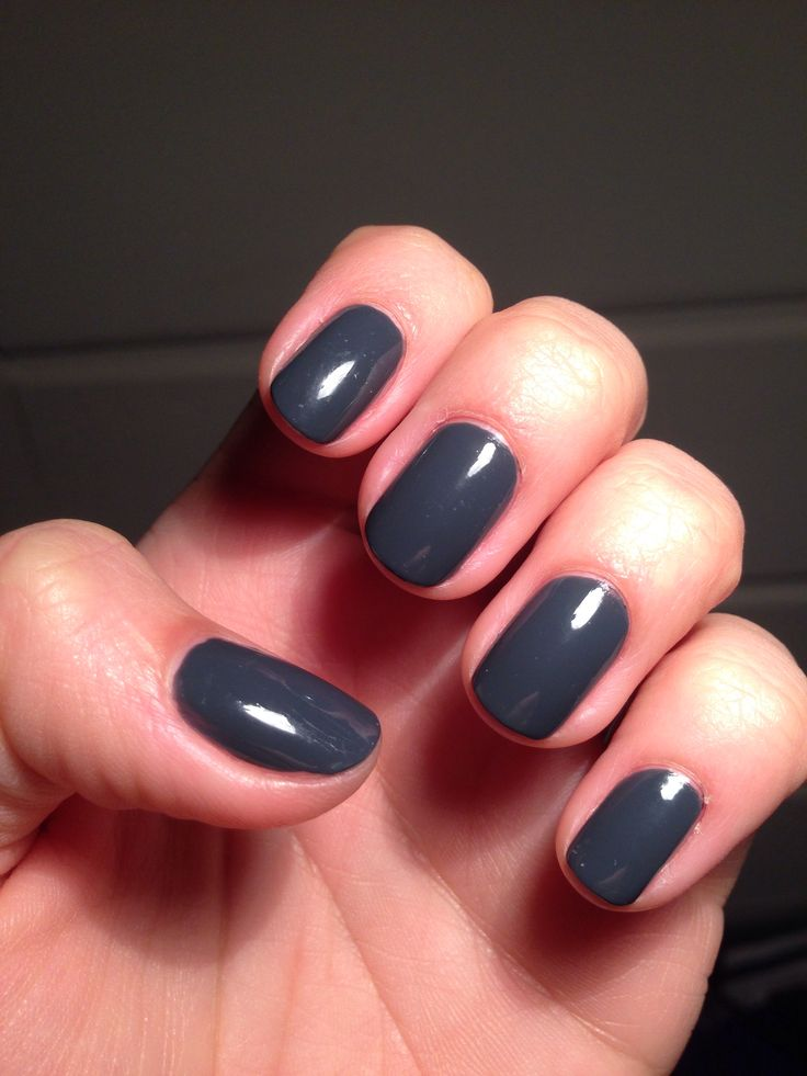 Fall nail polish fave = @CND Vinylux in Asphalt. Perfect deep blue grey #nails #nailpolish #diynails #diy