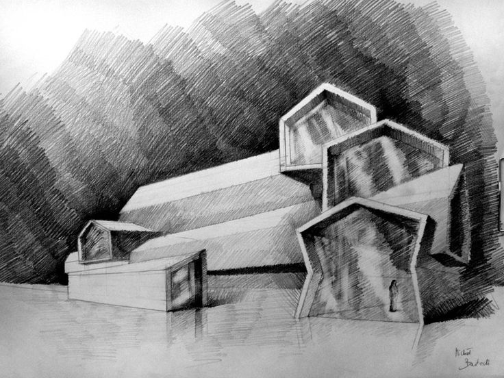Fine Modern Architecture Sketches Mad For Midcentury Home
