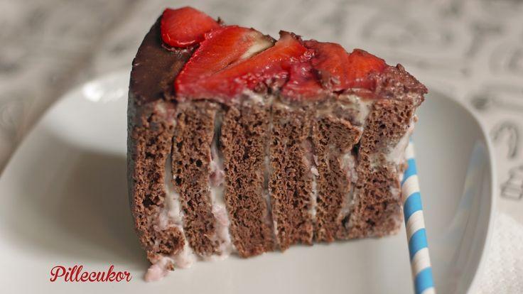 Pillecukor ♥: Epres mascarpone torta (glutén és cukormentes)
