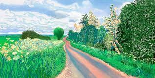 Bilderesultat for david hockney landscape