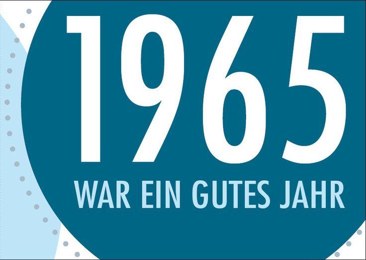 Einladung zum 50. Geburtstag: Jahr 1965 von Individuelle Einladung auf DaWanda.com