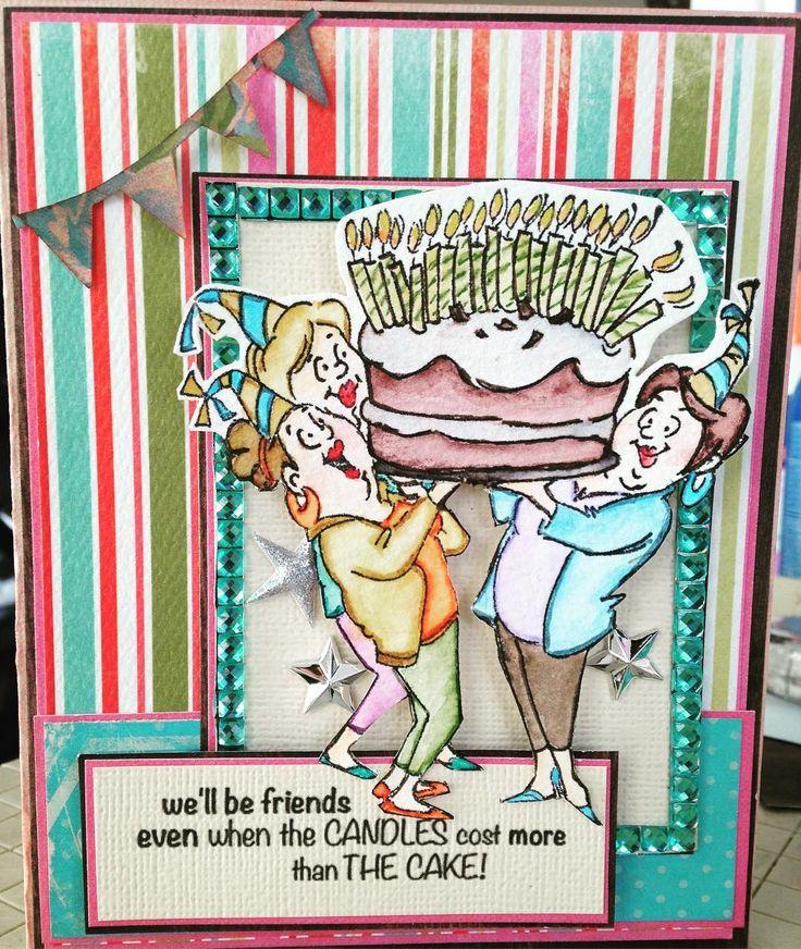 Art impressions ai girlfriends giant cake set sku4382