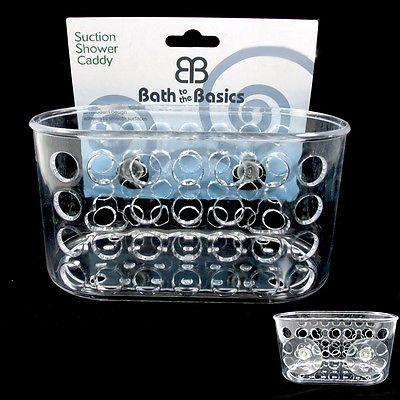 1 Shower Caddy Bath Bathroom Organizer Storage Basket Soap Holder Suction Cups in Home & Garden, Bath, Bath Caddies & Storage   eBay