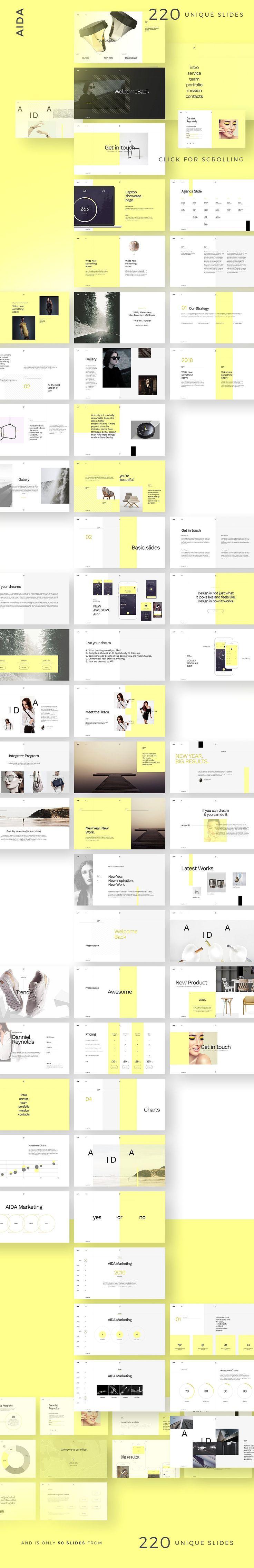AIDA Keynote Template + Big GIFT by DimaIsakov on @creativemarket