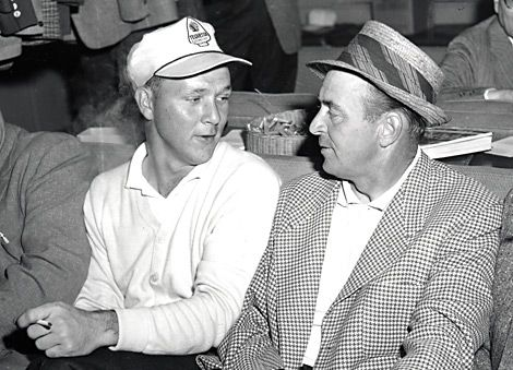 Arnold Palmer Wins His First Masters in 1958. He discusses the victory with golfing legend Sam Snead.