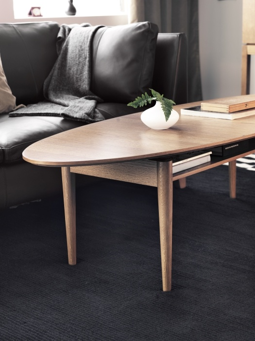 The IKEA STOCKHOLM coffee table- perfect for lovers of timeless, classic Scandinavian design. Added bonus- it's stain resistant . Designer: Ehlen Johansson