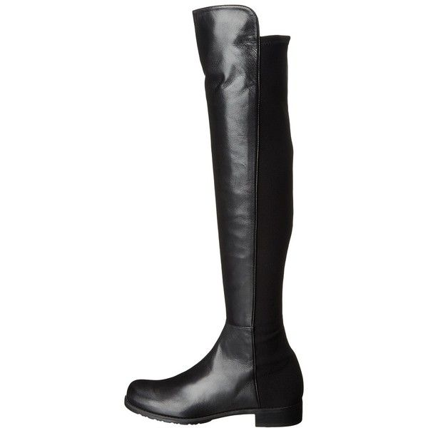 Stuart Weitzman 5050 (Black Nappa Leather) Women's Pull-on Boots ($655) ❤ liked on Polyvore featuring shoes, boots, over-the-knee boots, stuart weitzman boots, slip on boots, black over-the-knee boots, over knee boots and black pull on boots