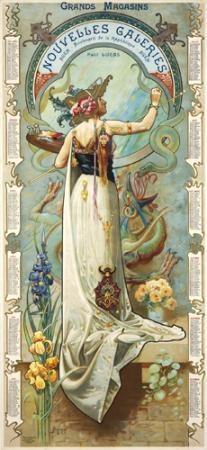 Affiche+... Art Nouveau(stijl) Vrouw *Poster+...Jugendstil(style) Women ~van Louis-Theophile Hingre~