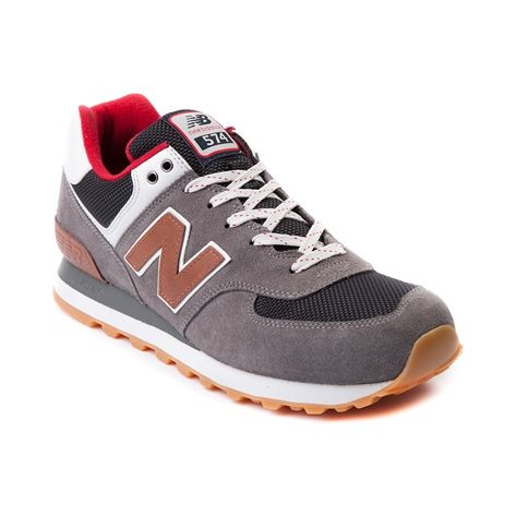 Shop for Mens New Balance 574 Athletic Shoe in Gray Red at Journeys Shoes.  Shop