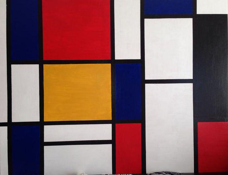 Antonello Marigliani: Omaggio a Piet Mondrian (2011). Acrilico su legno