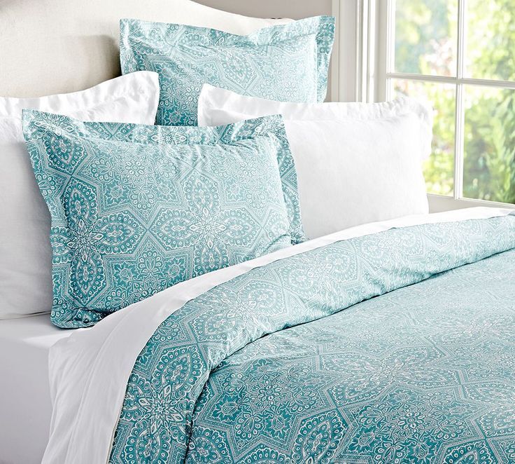 Update your bedroom with shades of aqua.