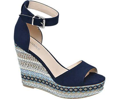 Keil Sandalette von Catwalk in blau - deichmann.com
