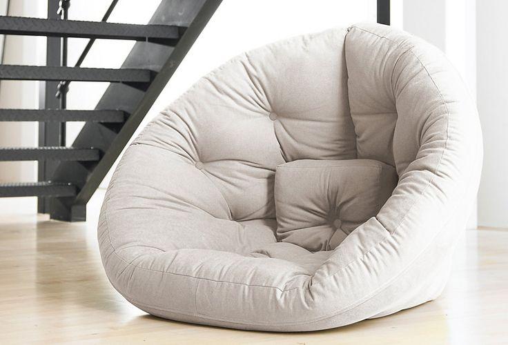 Futon-Sitzkissen in 8 Farben. Als gemütlicher Sessel oder Schlafgelegenheit nutzbar.