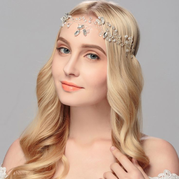 Bridal Tiara, Art Deco Crystal Silver Bridal Diadem, Pearl and Crystal Wedding Tiara Diamante