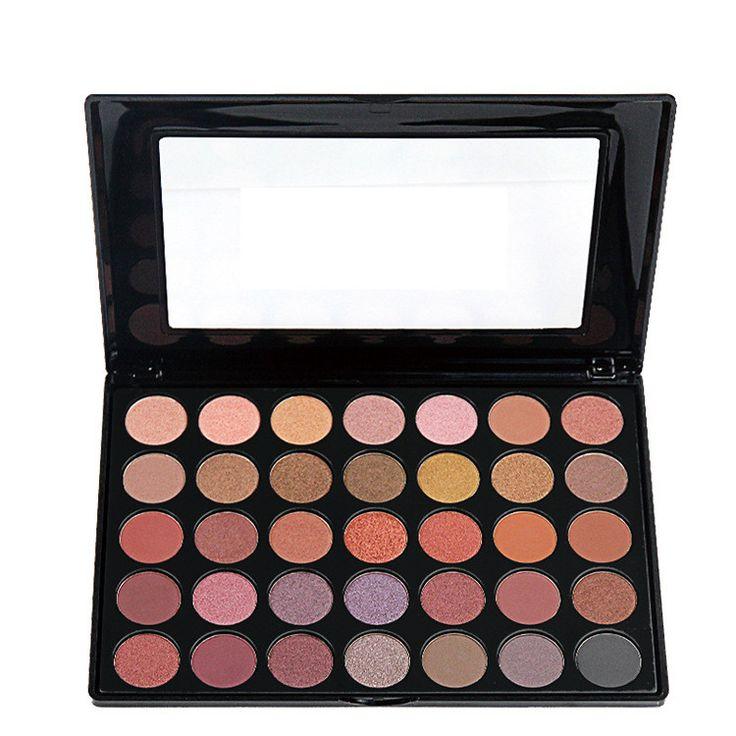 2016 جديد 35 ألوان ظلال الطبيعة توهج وميض لامع ظلال العيون كاملة المهنية ماكياج كيت التجميل يشكلون مجموعة