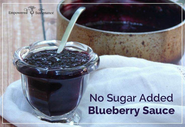 This healthy, easy blueberry sauce recipe has no sugar added and requires just 2 ingredients and 10 minutes.