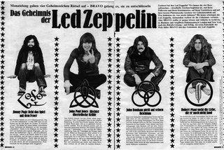 Эзотерические татуировки группы Led Zeppelin