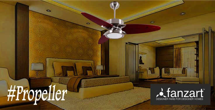 (1/2) Here's a fan for those who love to fly. Be it the special treated plywood blades modeled around jet plane Propellers or the multi-color LED mounted dome, this stylish-modern remote controlled fan has all it takes to sweep you off your feet.