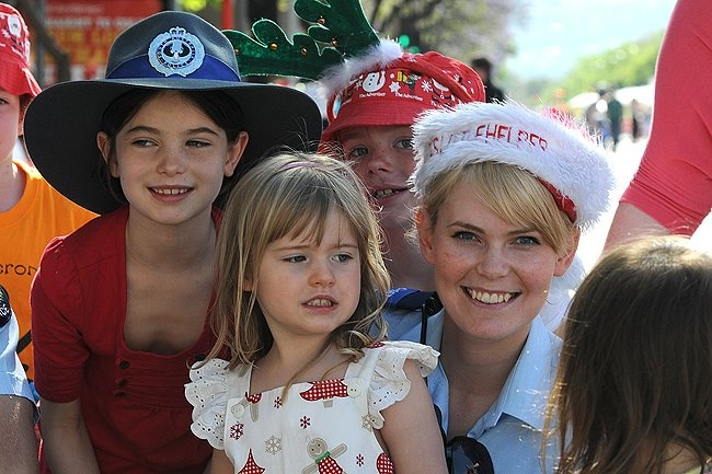 All smiles at the Credit Union Christmas Pageant, 2011. #christmas #pageant #adelaide #southaustralia #police