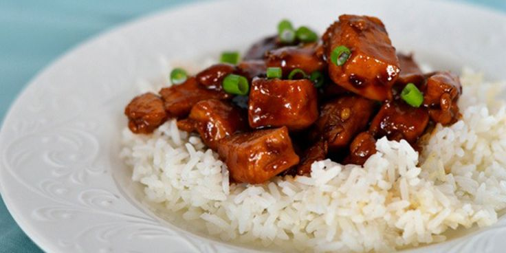 Chinese Bourbon Chicken and Rice recipe without the bourbon