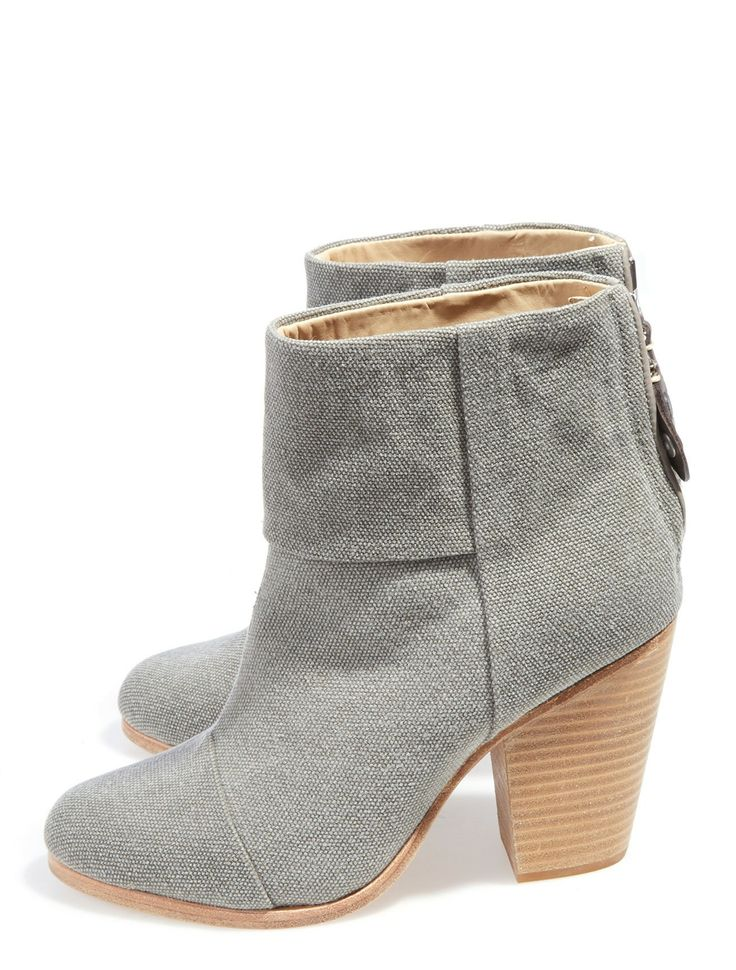 Complete a chic & casual ensemble with these Rag & Bone Canvas Newbury  Booties available at