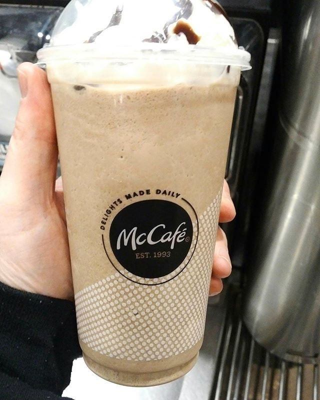 A large McCafe Mocha Frappe from McDonald's makes my mouth happy! #mcdonalds #mccafe #coffee #frappe #mochafrap #mochafrappe #coffeetime #foodie #foodreviews #youtube #youtuber #oldnerdreviews